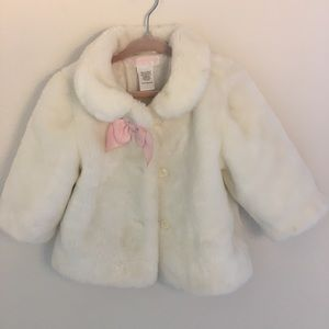 Other - Janie and Jack Faux Fur Shrug with Bow 6-12 months